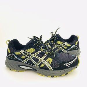 Black/Neon Yellow ASICS Gel-Venture 4 Sneaker